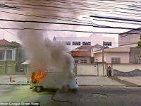 Imagini surprinse de Google Street view: incendii, accidente si femei in ipostaze ciudate! FOTO