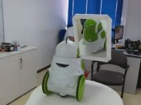 VIDEO EPIC: Un robot se vede pentru prima data in OGLINDA! Vezi reactia unica