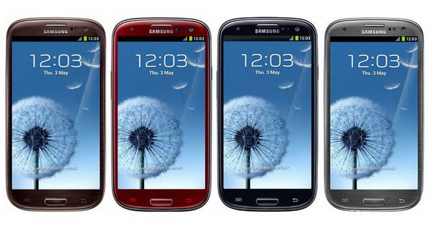 Samsung GALAXY S III surprinde cu patru noi variante: negru, gri, rosu si maro