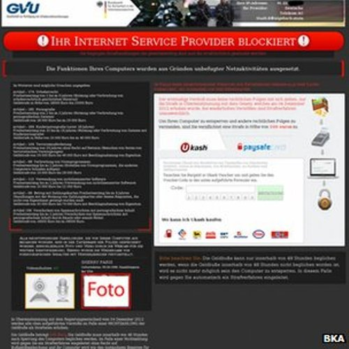 Virusul  Politia Romana  a ajuns pana in Germania. Ce mesaj primesc utilizatorii
