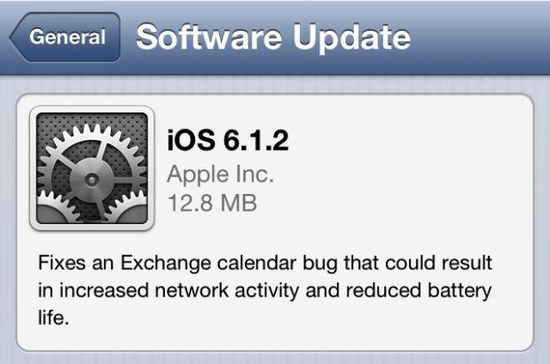 Apple a lansat iOS 6.1.2, update-ul care iti imbunatateste durata de viata a bateriei