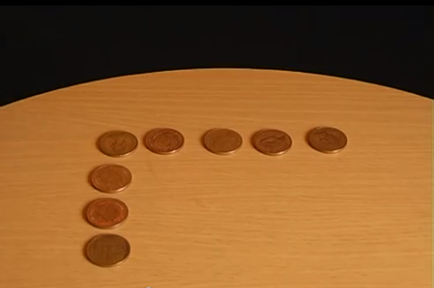 Provocare: Muta o singura moneda, ca sa ai cate 5 monede pe fiecare latura