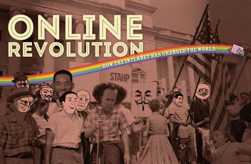 Revolutii pe Facebook, Anonymous, Wikileaks, 2.4 miliarde utilizatori. Cum a schimbat Internetul lumea in ultimii 12 ani. INFOGRAFIC
