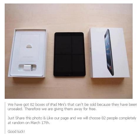 Cu un Like primesti gratuit un iPad Mini . Ce au patit cei care au facut asta pe Facebook