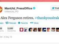 Plecarea antrenorului Sir Alex Ferguson de la Manchester United, subiectul care a incins reteaua Twitter