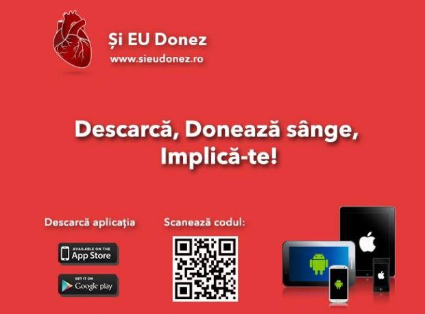 Putem deveni eroi cu o simpla aplicatie de mobil. Descarca, doneaza sange, implica-te!