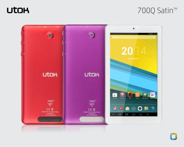 UTOK 700Q Satin. O tableta colorata de 7 inch cu 5 ani garantie