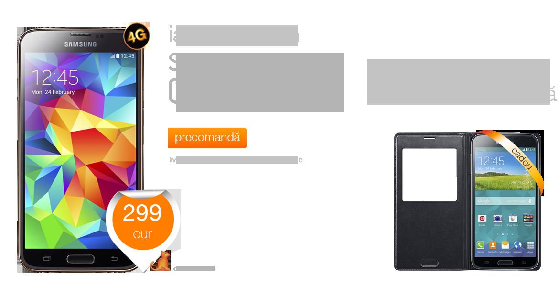 Samsung Galaxy s5 Pret Cosmote Samsung Galaxy s5 la 299