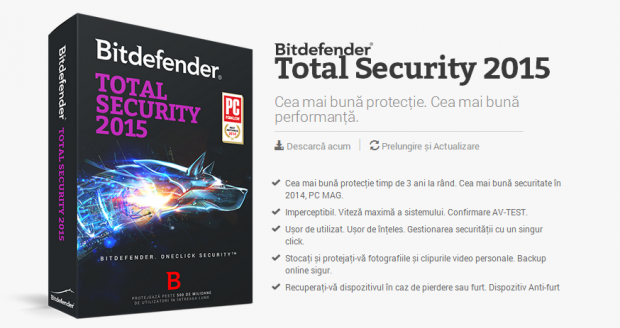 Bitdefender Total Security 2015 Hands-on. Instalare extrem de usoara, protectie maxima