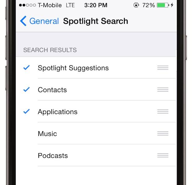 Nu lasa Spotlight Search sa indenxeze fisiere nenecesare. Mergi la Settings > General > Spotlight Search si selecteaza ce fisiere vrei sa excluzi din lista