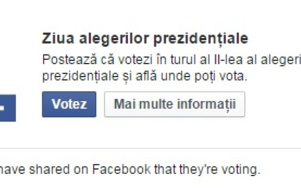 Facebook a marcat ziua alegerilor prezidentiale cu o aplicatie surpriza