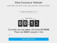 Cel mai exclusivist site din lume! Intra doar un om pe el pentru 60 de secunde! Mii de persoane isi asteapta randul