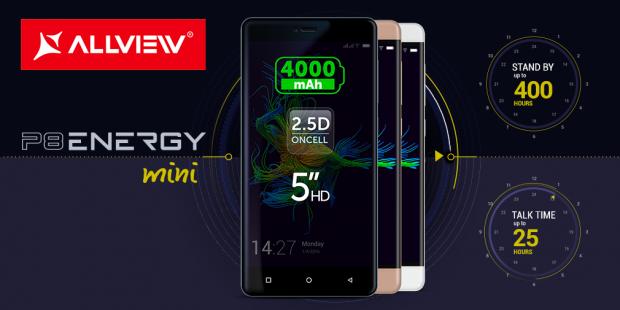 P8 Energy mini, primul telefon Allview cu sticla 2.5D. Cat costa
