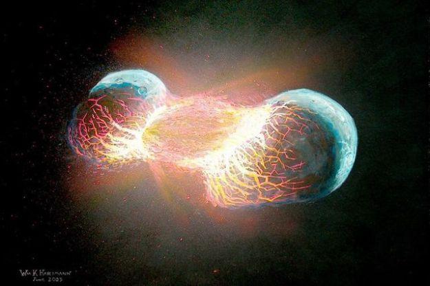 O noua teorie incredibila a aparut: Terra a fost rezultatul coliziunii dintre doua planete