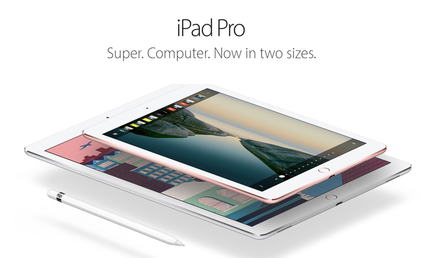 iPadPro, cu ecran de 9,7 inch, vine cu Apple Pencil si Smart Keyboard