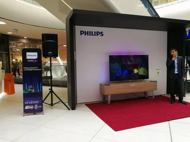 Philips a prezentat cel mai spectaculos televizor cu Ambilight din noua gama de televizoare UHD! Cat costa