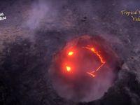 Imagini incredibile surprinse in timpul eruptiei unui vulcan: ce se vede in craterul plin cu lava