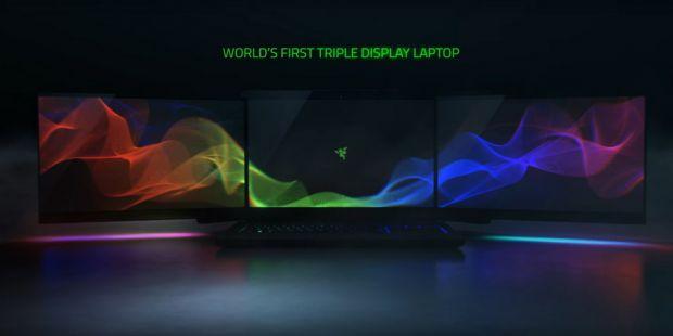 Acesta este laptopul viitorului! Este primul din lume cu 3 display-uri si rezolutie 12K