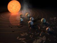 Noi informatii despre sistemul solar Trappist-1: poate exista viata pe mai multe exoplanete!