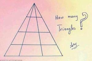 Cate triunghiuri sunt in imagine? Putini reusesc sa dea raspunsul corect