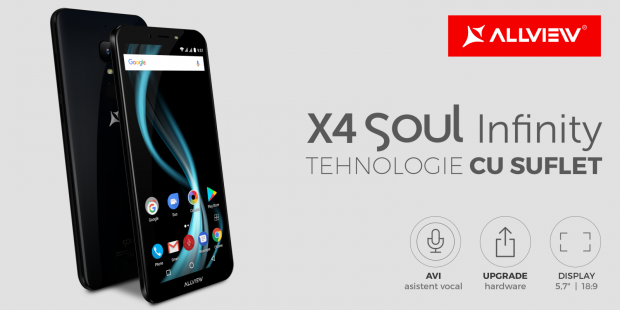 Allview lanseaza X4 Soul Infinity si X4 Soul Infinity Plus, telefoane cu asistent vocal in limba romana