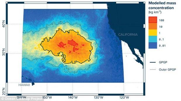 Marea Zona de Gunoi din Pacific contine peste 79.000 de tone de plastic, iar poluarea se extinde rapid