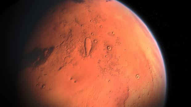 Astronomii, uimiti de un crater urias observat pe Marte. Nimeni nu stie cum s-a format