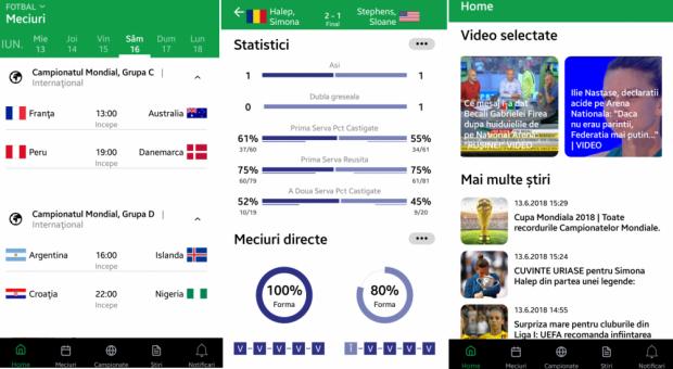 Sport.ro a lansat o noua aplicatie! Sectiune dedicata Cupei Mondiale, cea mai tare sectiune de livescores
