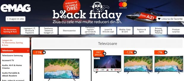 Black Friday 2018 la eMAG: vânzări peste estimări în primele ore ale promoției