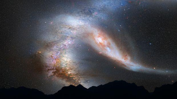 Astonomii anunță un impact iminent între galaxia noastră și o altă galaxie