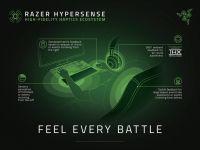 Razer prezintă HyperSense, dispozitive bazate pe tehnologia tactilă, care permit jucătorilor să simtă pericolul