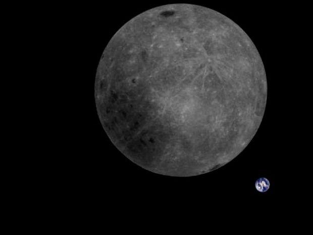 Fotografia istorică de pe fața nevăzută a Lunii. Cum apare Pământul în imagine