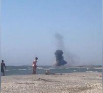 Exerciții militare pe litoral: turiștii au surprins momentul unei explozii